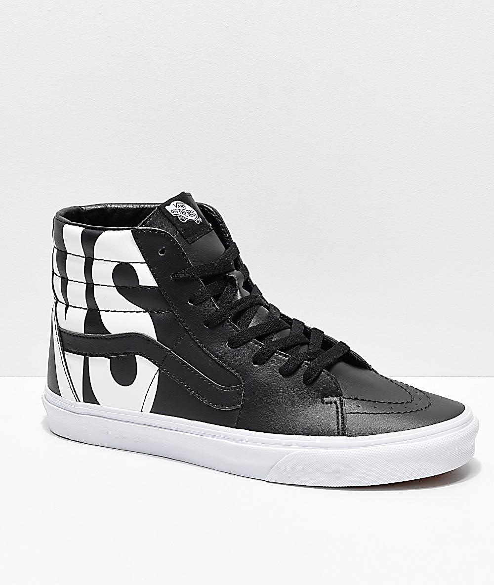 858fa9f4e3a05 Vans Sk8-Hi Classic Tumble Black Shoes