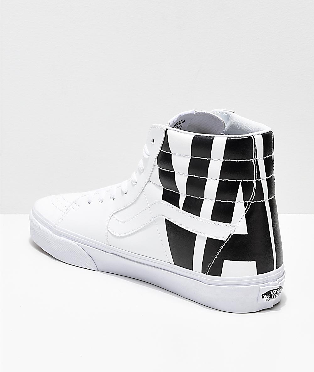 42f4a3b91d118 Vans Sk8-Hi Classic Tumble White Shoes