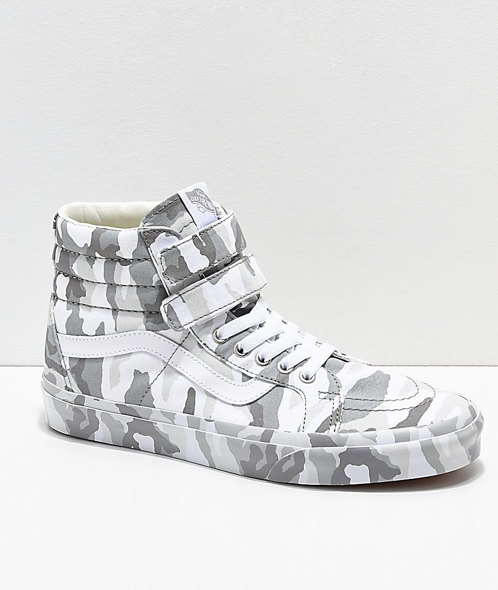Vans Sk8 Hi Tumble Reissue V Snow Camo Skate Shoes