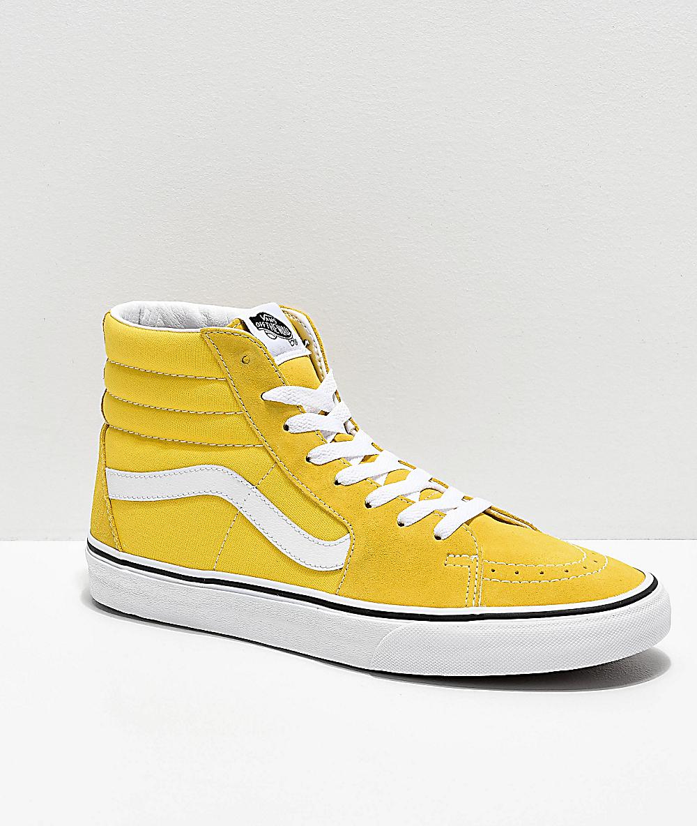 vans sk8 hi yellow