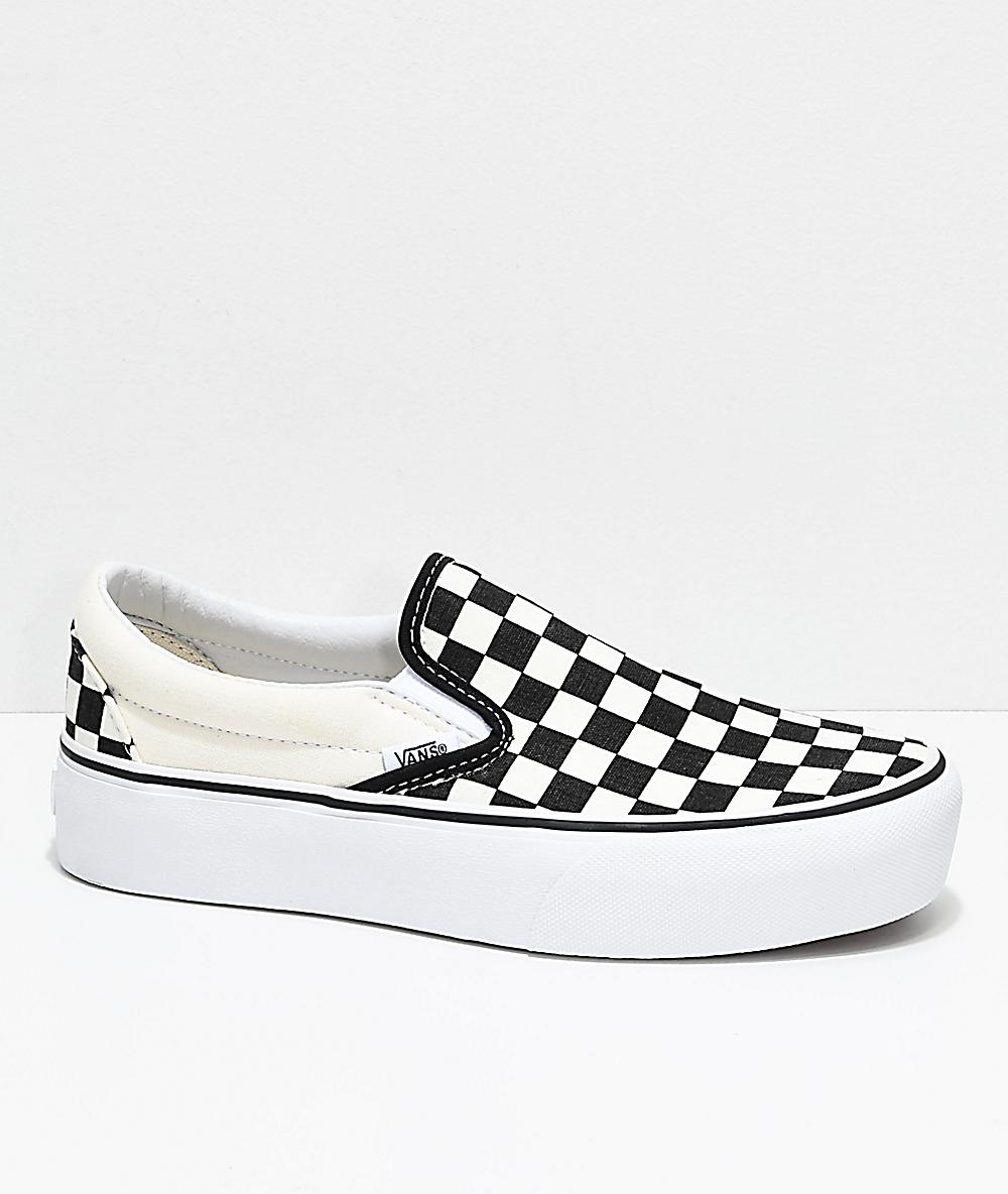Tienda America cualquier cosa  checkerboard slip on vans platform > Factory Store