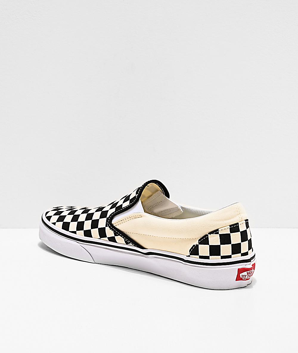 Vans Slip On Black White Checkered Skate Shoes Zumiez
