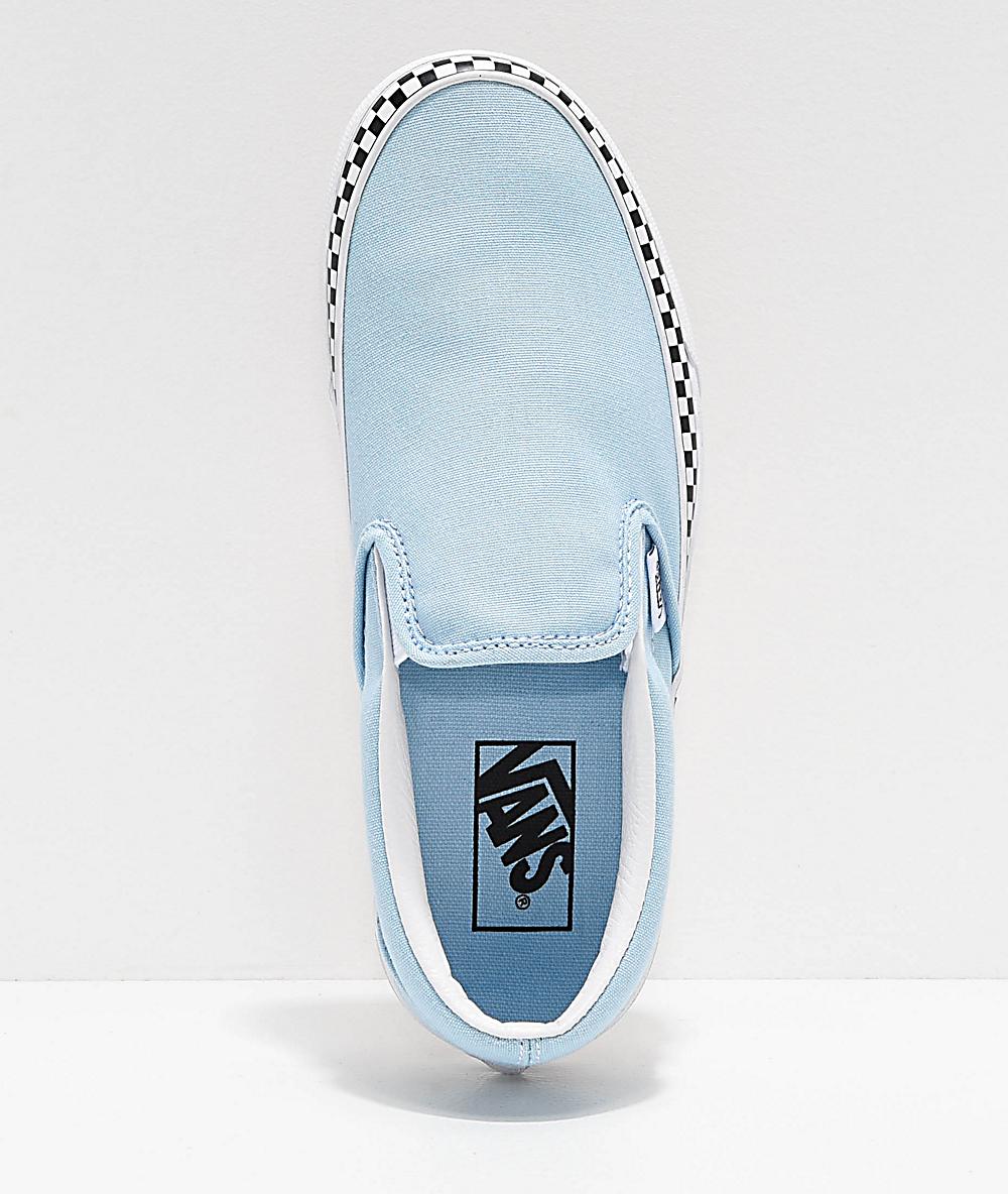 Shop \u003e light blue slip on vans- Off 73