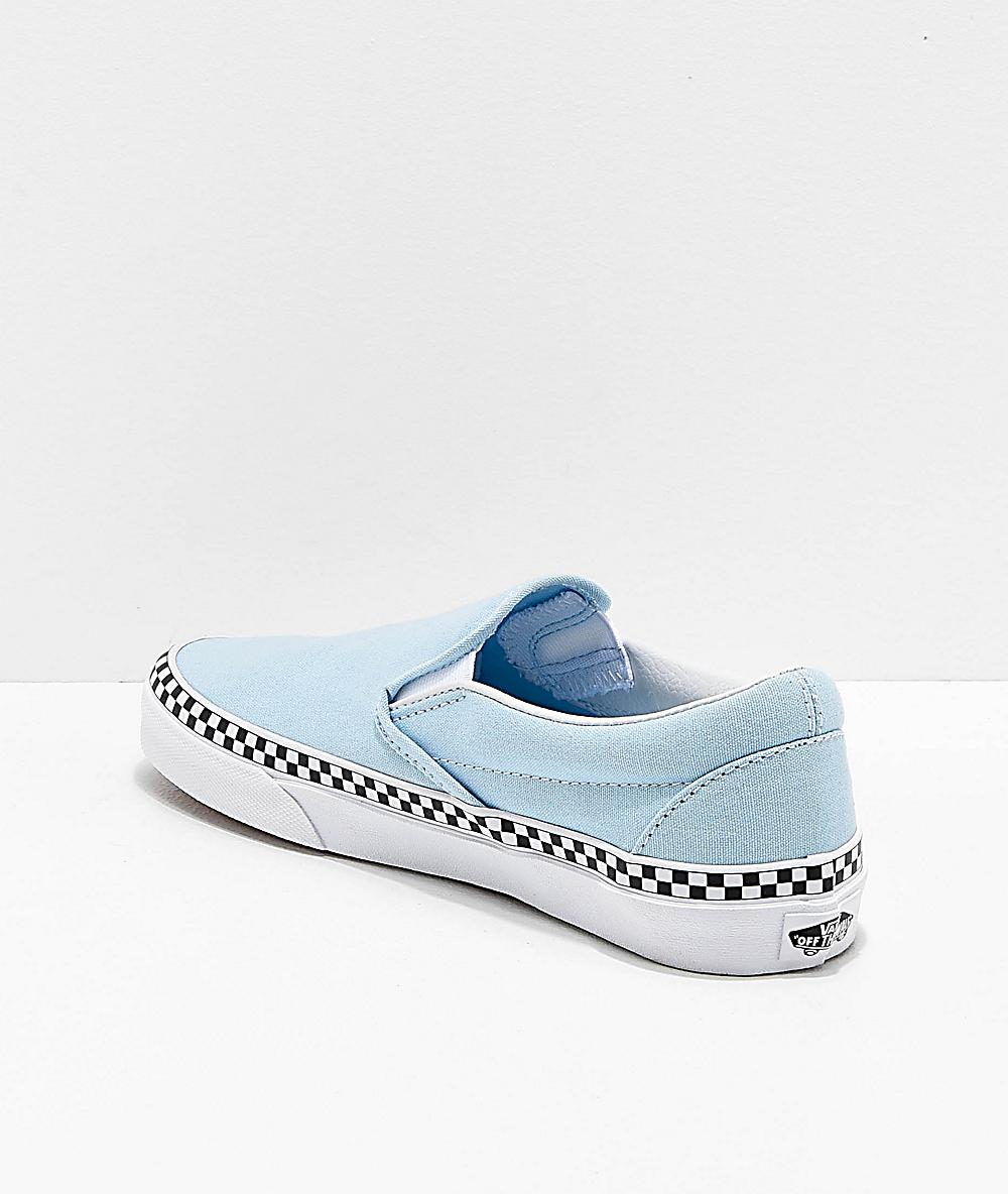 Shopping \u003e light blue slip on vans with
