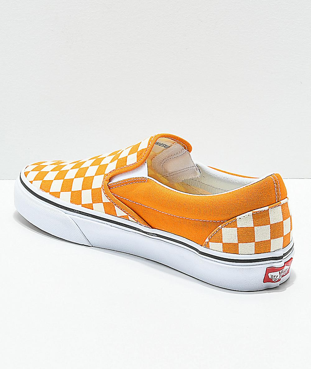 Buy \u003e orange checkerboard vans Limit