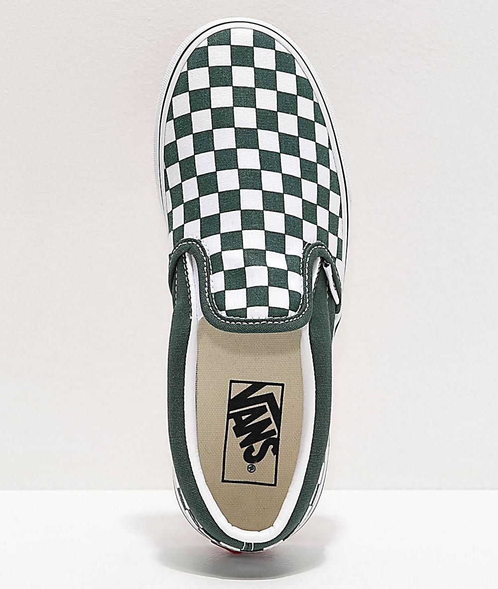 forest green checkered vans Shop
