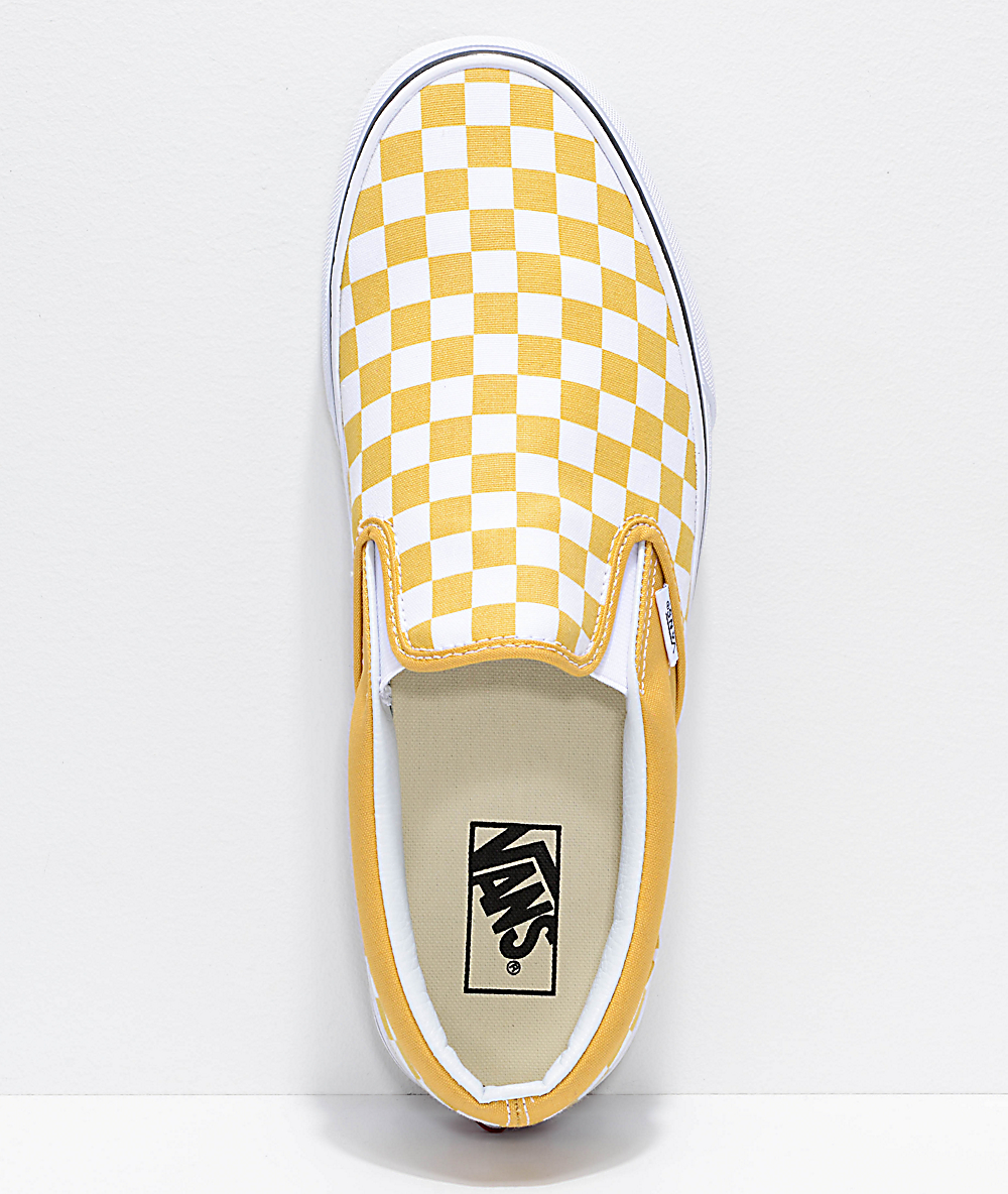 Ochre And White Checkered Vans Outlet Shop, UP TO 60% OFF