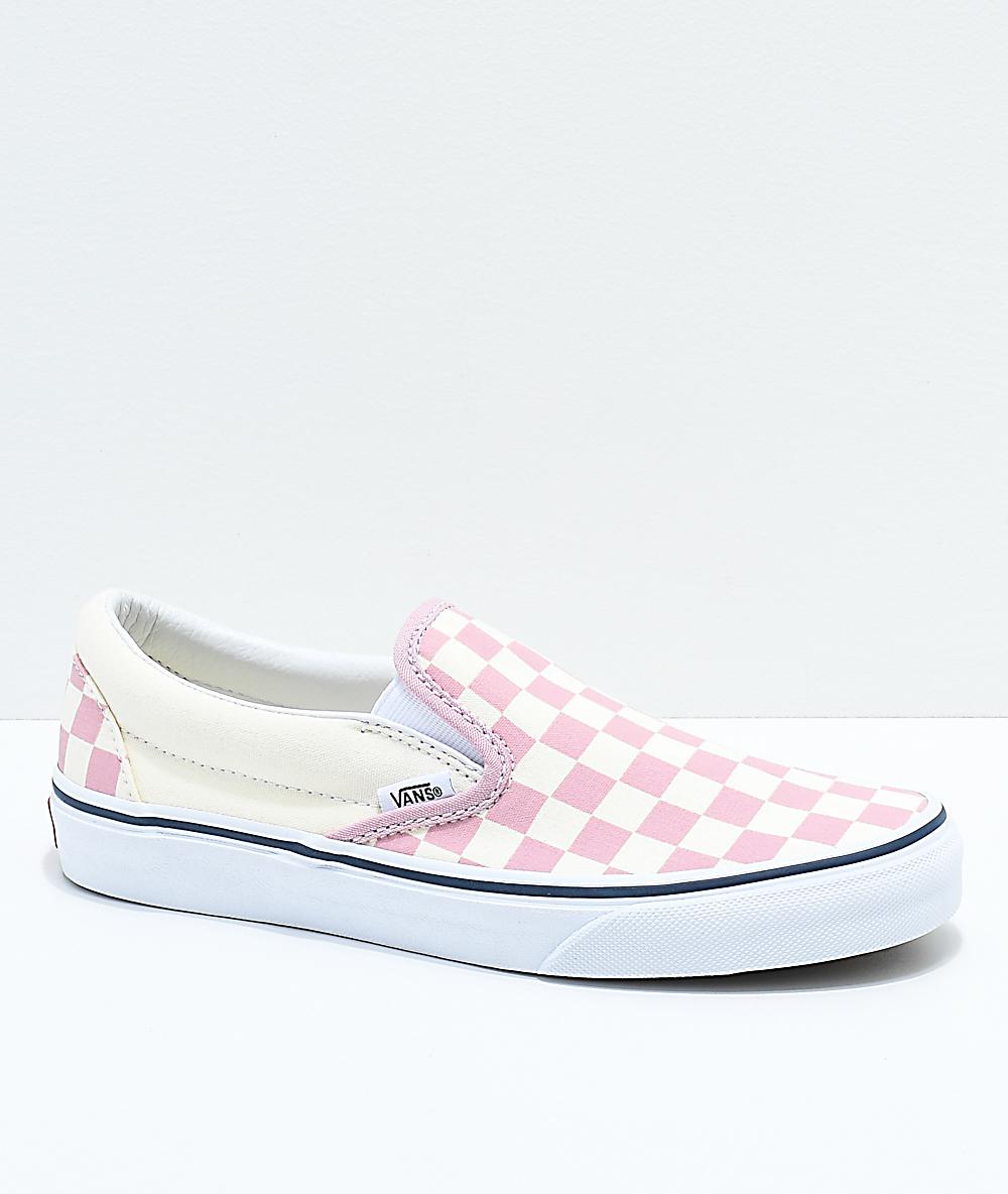 pink checkerboard vans kids