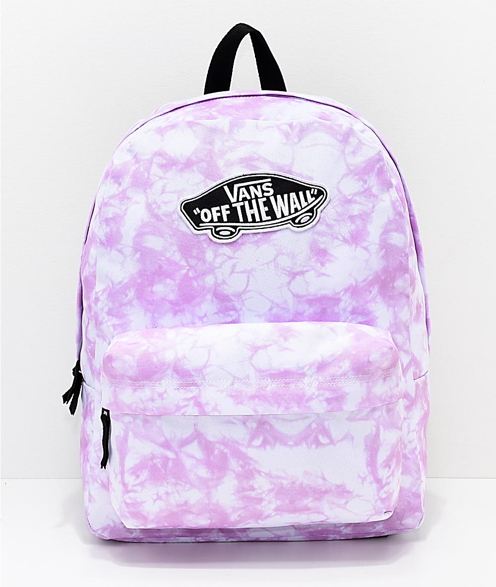 ca42cf99962 Vans Sporty Realm Violet Cloudwash Backpack   Zumiez