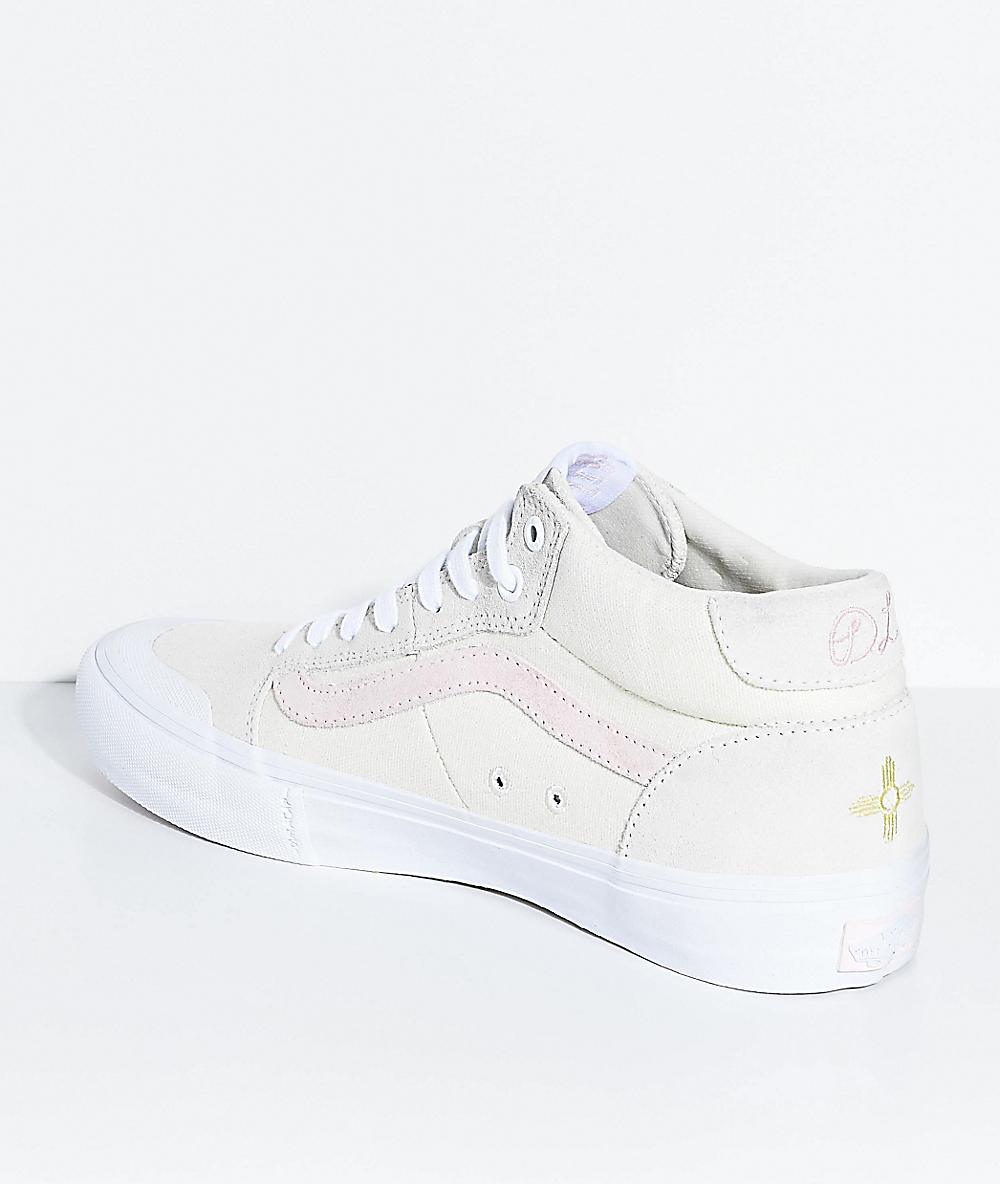 Vans Style 112 Pro Mid Dan Lu Birch & Pearl Skate Shoes