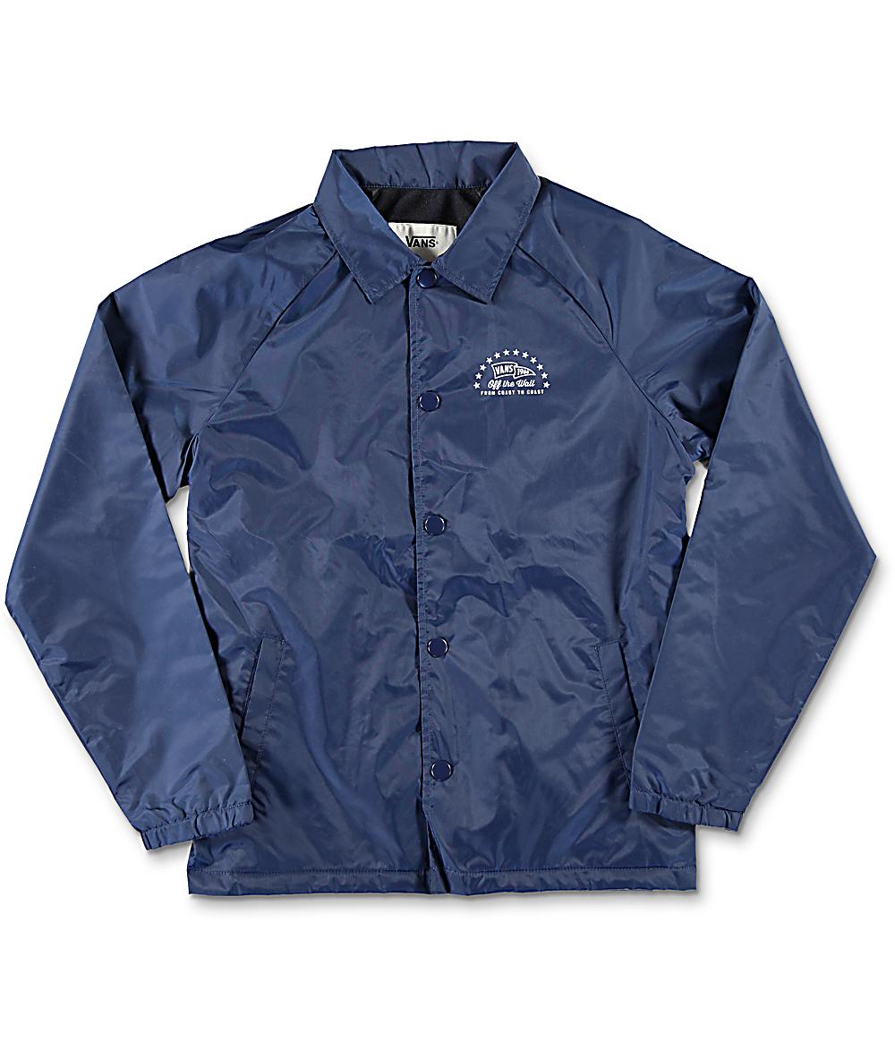 aa1405fb9b Vans Torrey Boys Navy Coaches Jacket