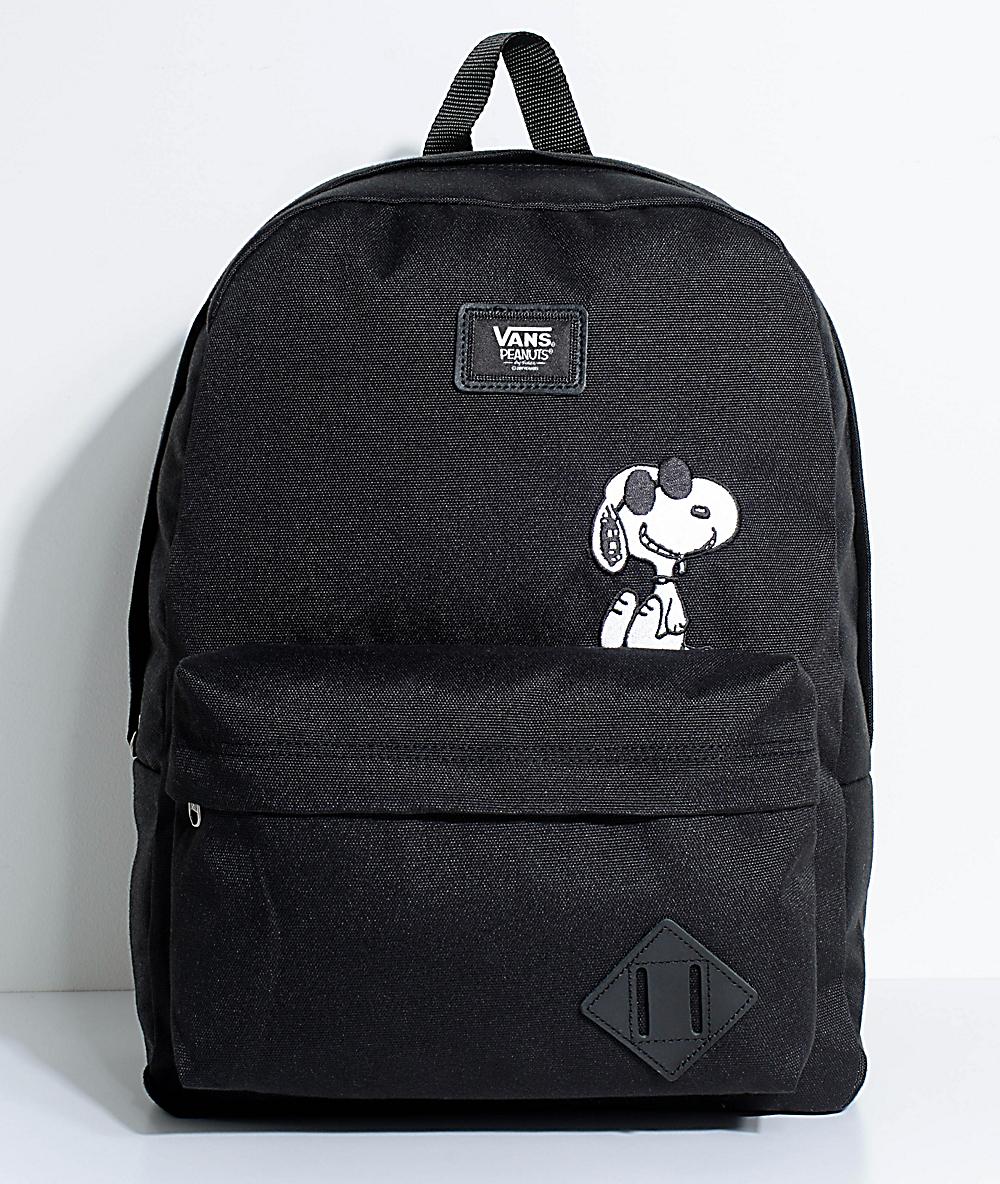 Details about Vans X PEANUTS Old Skool II Snoopy Black Backpack BRAND NEW