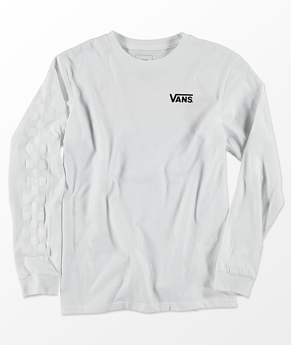 66e66bab7af9 Vans X Thrasher Boys Checker White Long Sleeve T-Shirt   Zumiez