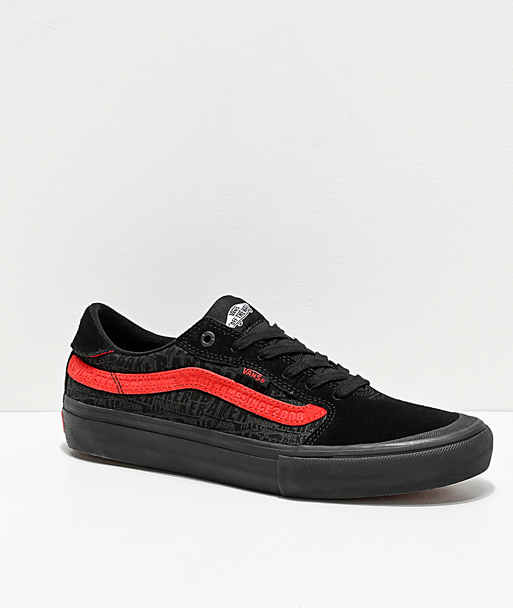 factory authentic release info on enjoy discount price Vans x Baker Style 112 Pro Black & Red Skate Shoes
