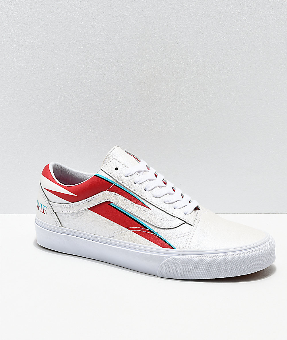Vans x David Bowie Old Skool Aladdin Sane White Skate Shoes