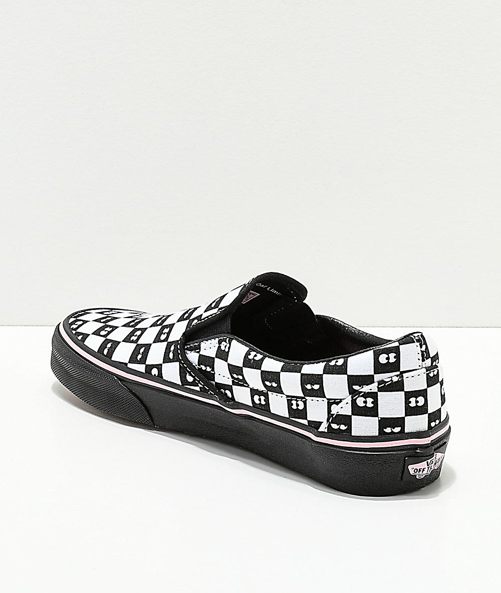 Vans x Lazy Oaf Checkerboard Classic Slip On 5.5