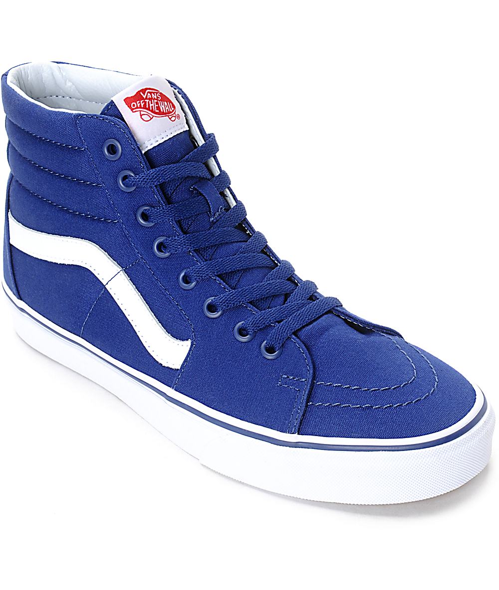 f80338ce Vans x MLB Sk8-Hi Dodgers Blue Skate Shoes | Zumiez
