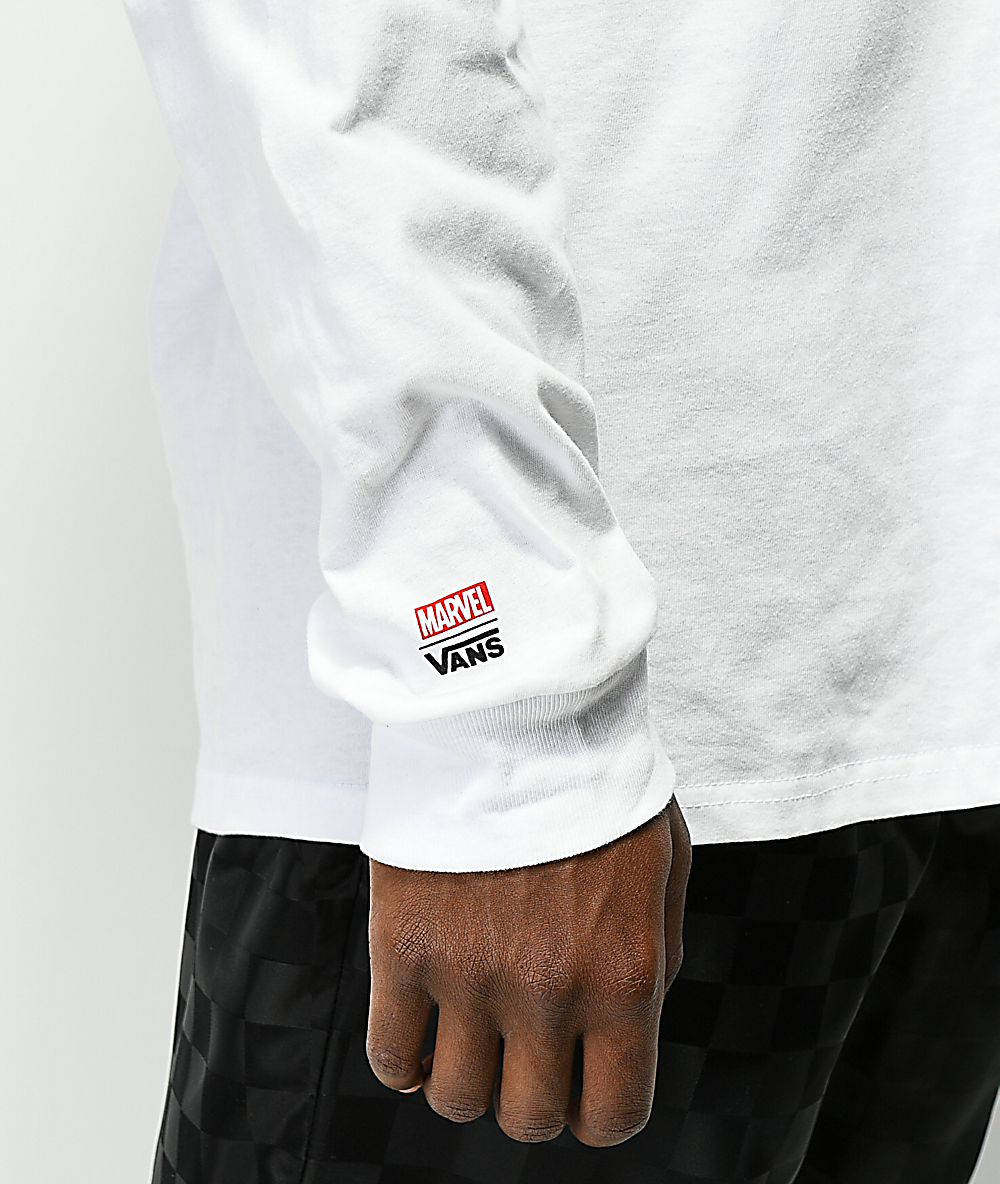 Vans x Marvel Characters White Long Sleeve T-Shirt