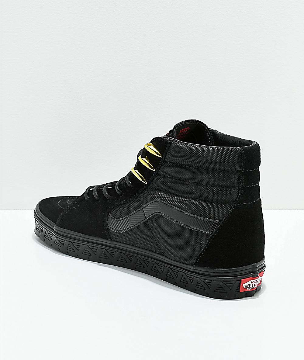 no sale tax choose best clearance sale Vans x Marvel Sk8-Hi Black Panther Black & Gold Skate Shoes