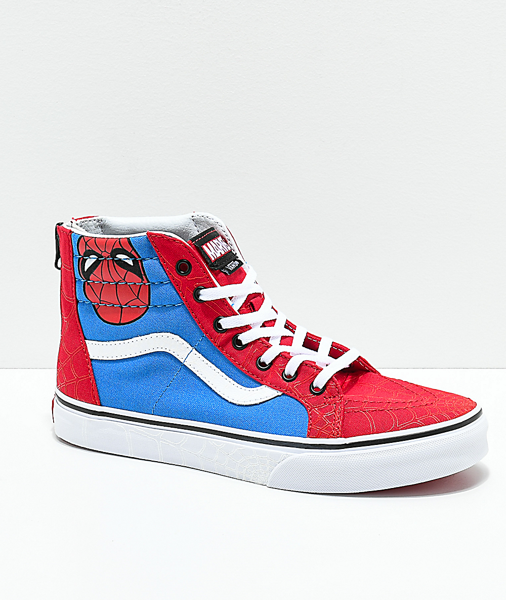 Vans x Marvel Sk8-Hi Spider-Man Skate Shoes
