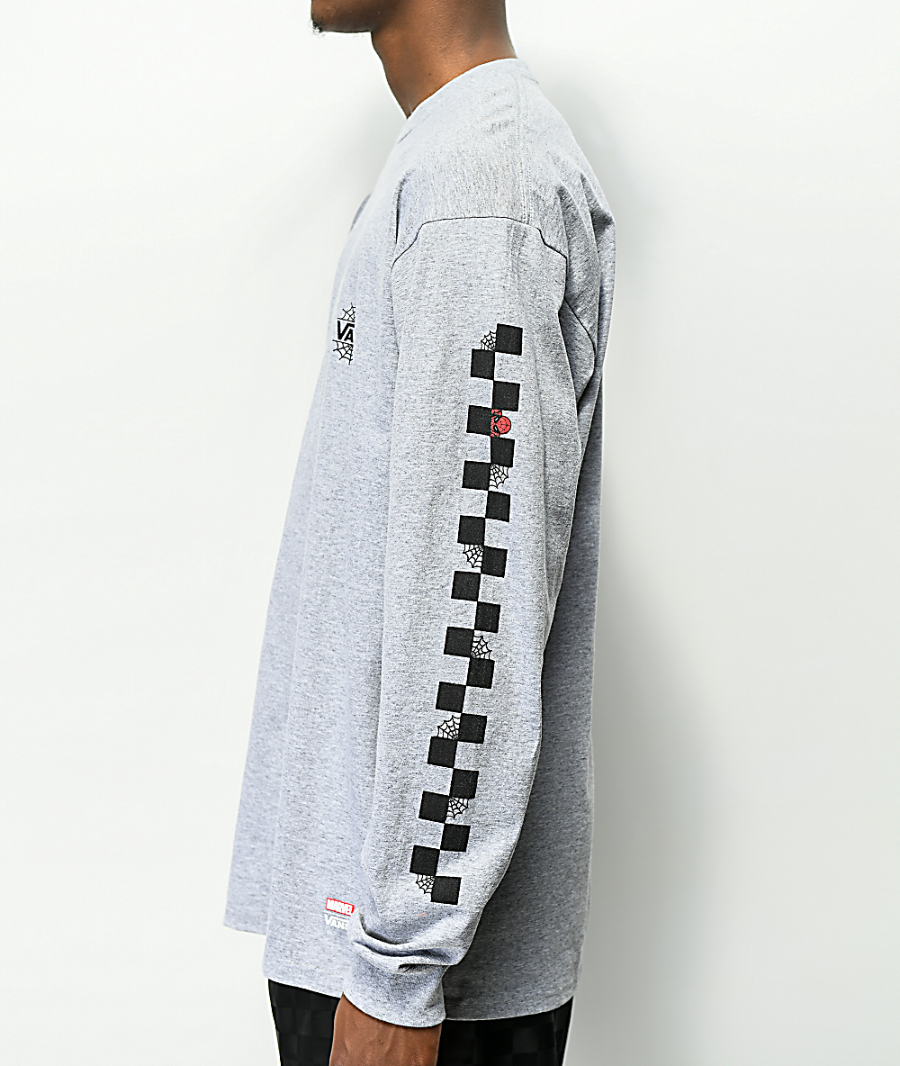 Vans x Marvel Spiderman Grey Long Sleeve T-Shirt