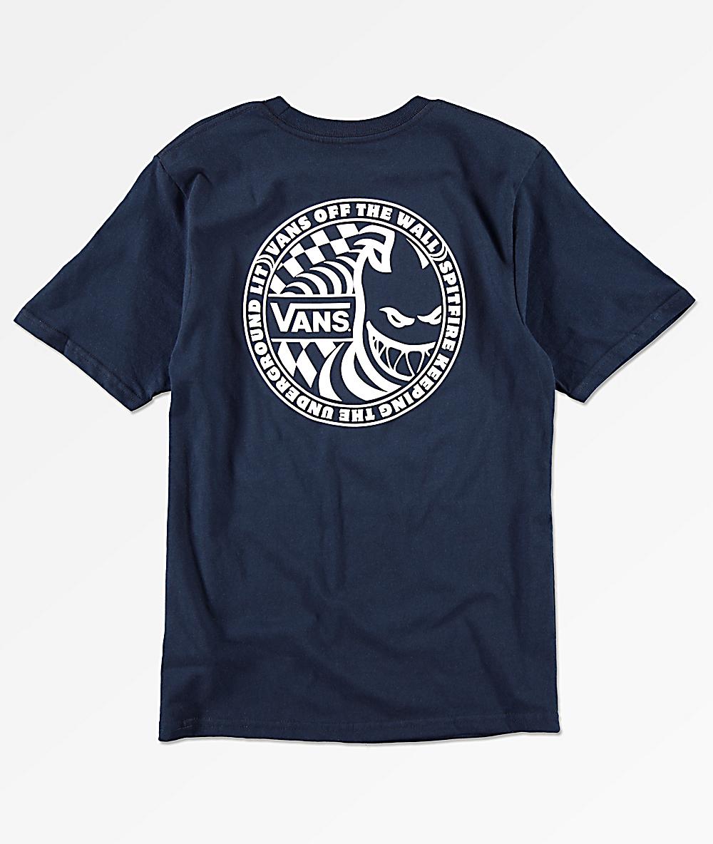 Vans x Spitfire Boys Navy T Shirt