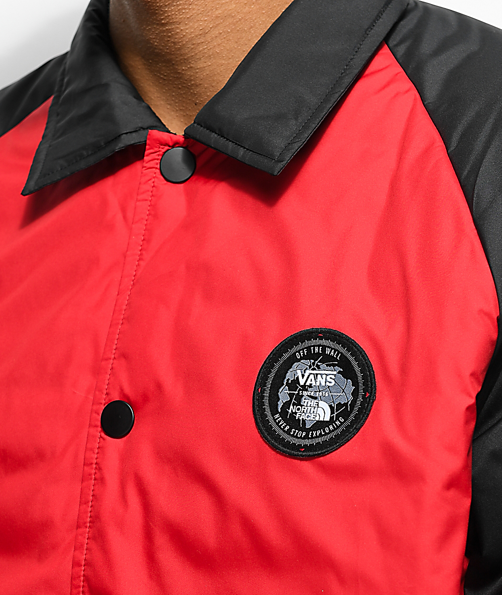 8845f9b59 Vans x The North Face Torrey MTE Red & Black Coaches Jacket