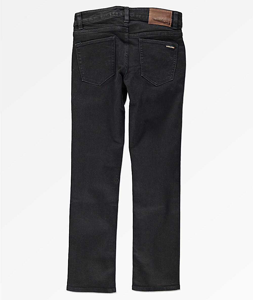 e20290655a4057 Volcom Boys 2x4 Black Skinny Jeans   Zumiez