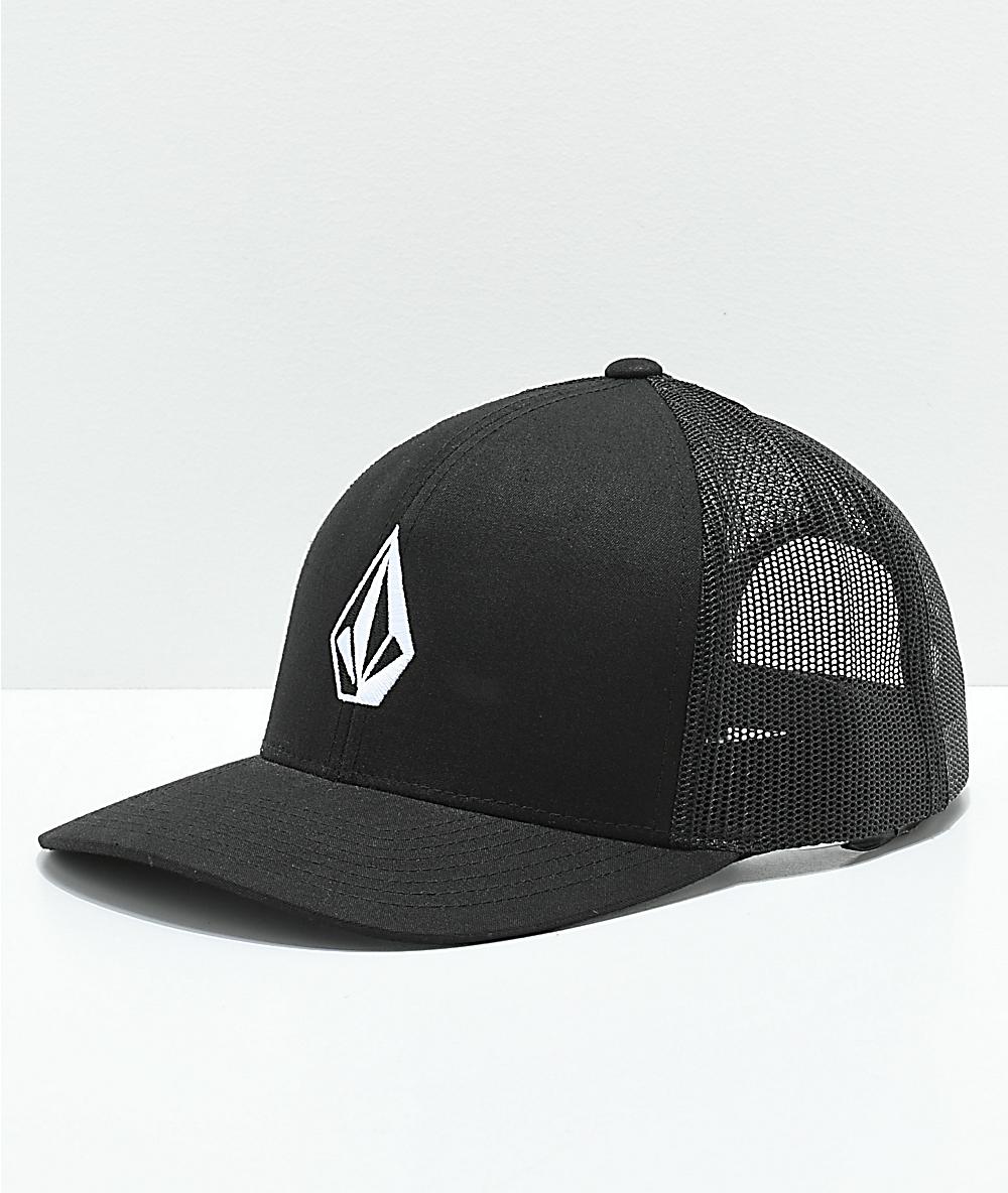 Black Volcom Full Frontal Trucker Cap Mens Caps