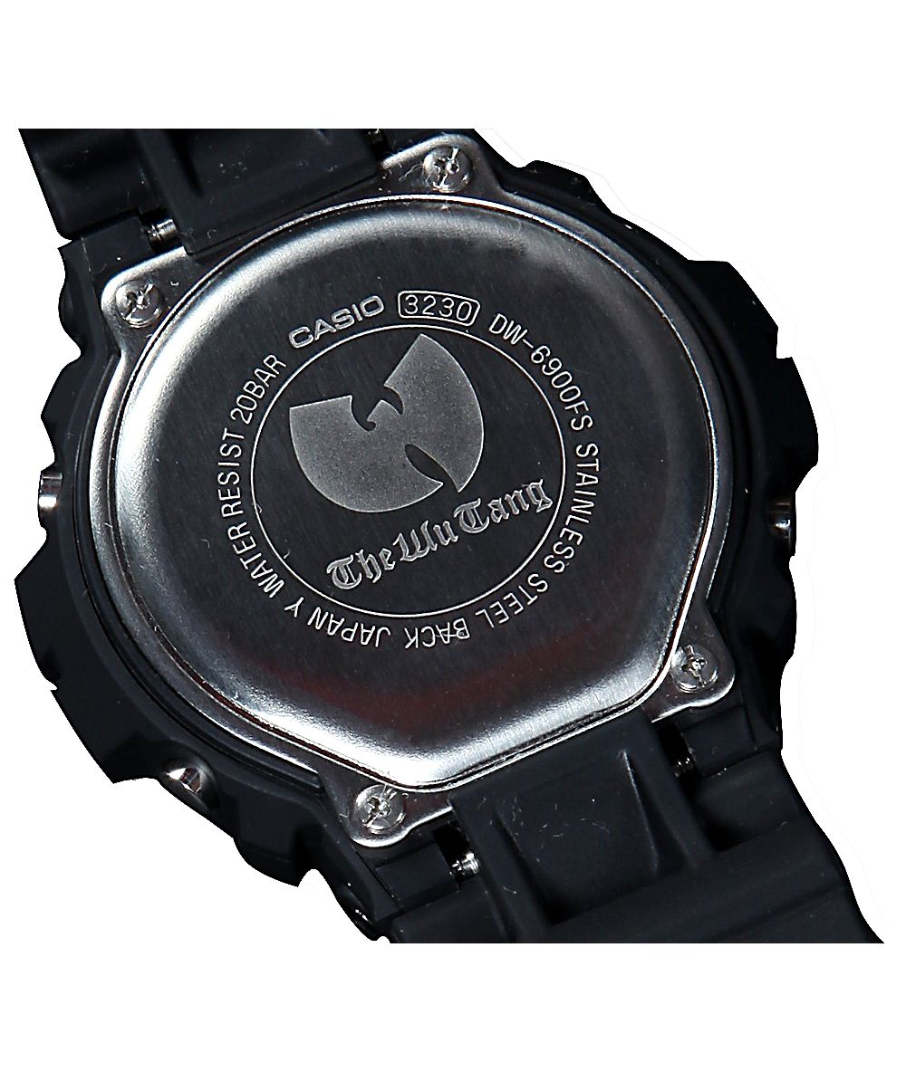 Wu Tang Clan x G-Shock DW-6900-FS Black & Yellow Watch | Zumiez