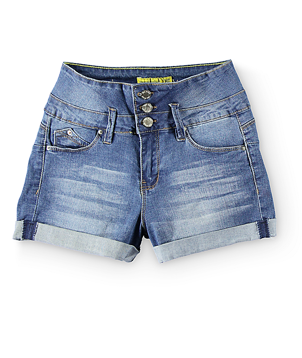 ec8d3766aa35d0 YMI WannaBettaButt High Waisted Denim Shorts | Zumiez
