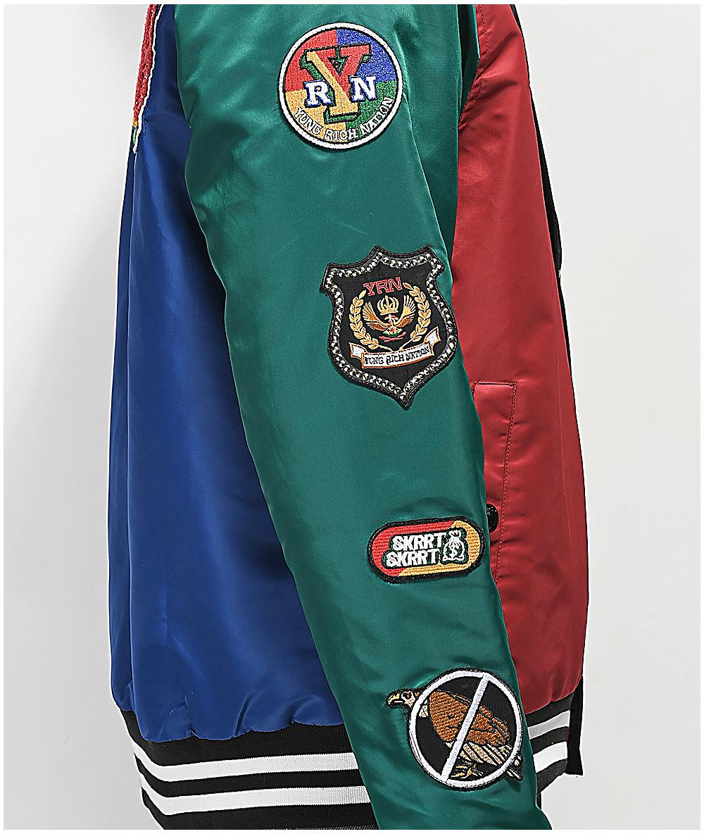 YRN College Block Varsity Jacket