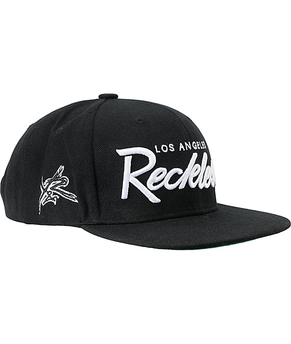 timeless design dbcfb b7abe Young   Reckless OG Reckless Black Snapback Hat   Zumiez