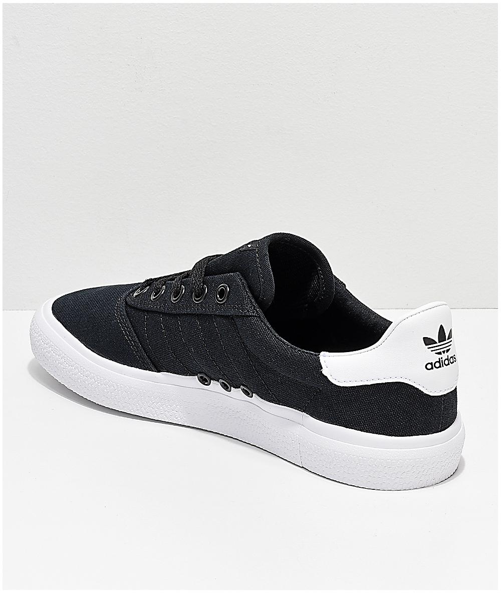 adidas 3MC zapatos de lienzo negro y blanco