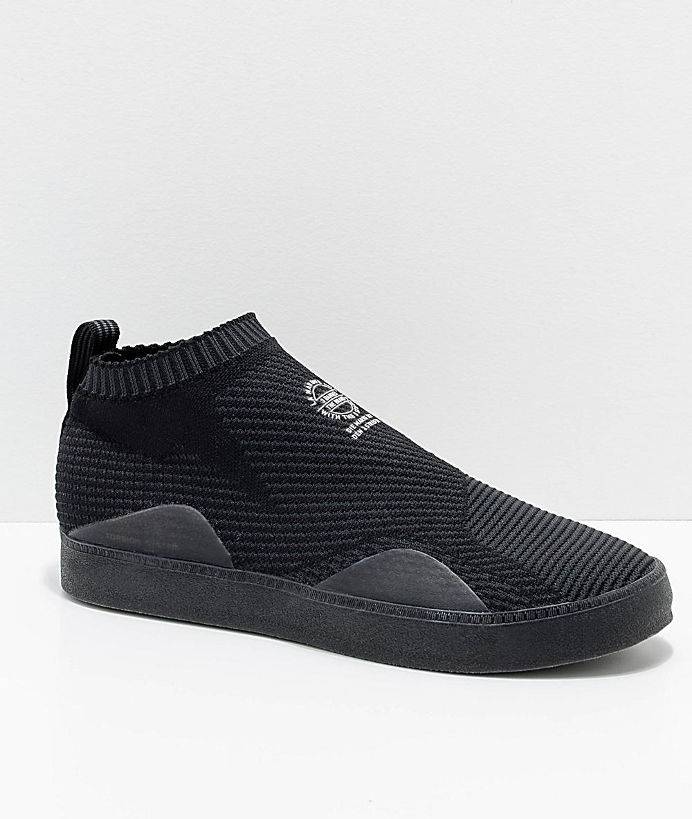 Adidas originaler 3ST. 002 Primeknit sko Adidas    adidas 3ST.002 Primeknit Carbon Black Shoes   title=          Zumiez