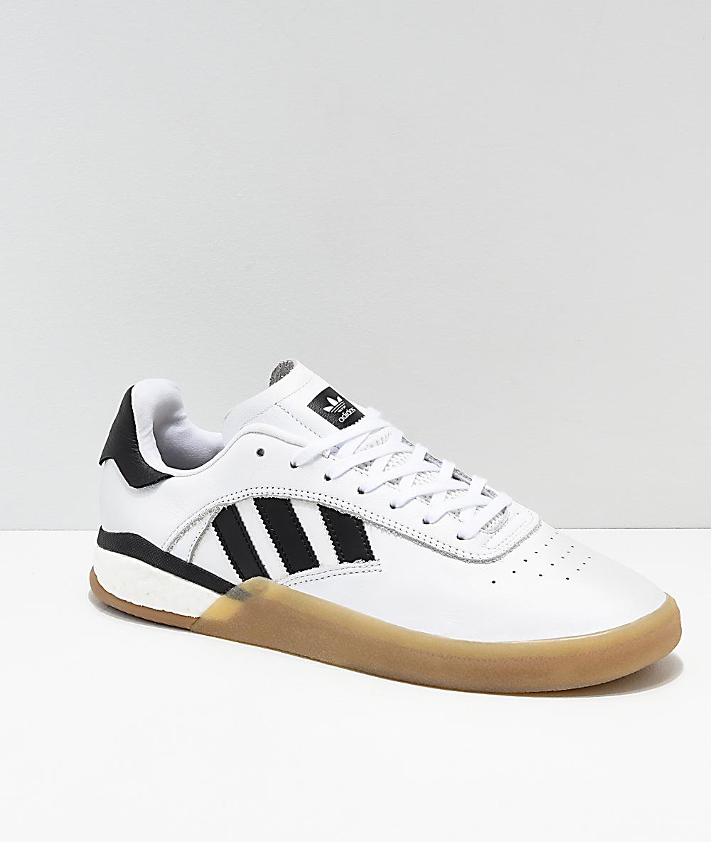 d74a4aa39f adidas 3ST.004 White, Black & Gum Shoes