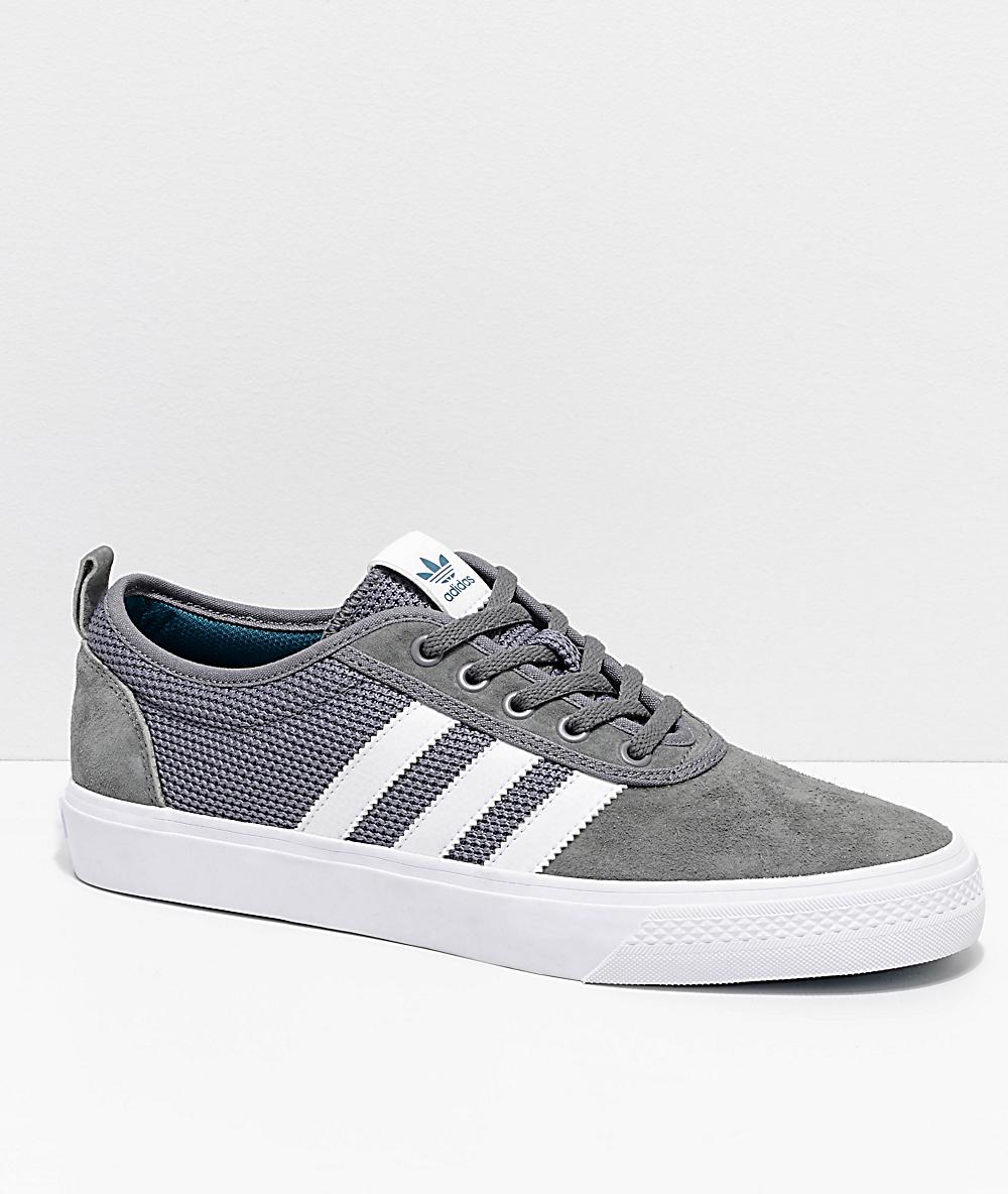 adidas AdiEase Grey & White Shoes