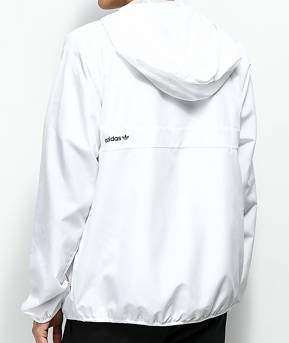 28787b795 adidas BB White Windbreaker Jacket | Zumiez