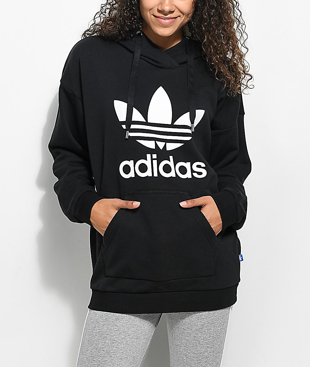 7fc57e5000 adidas Black Trefoil Hoodie
