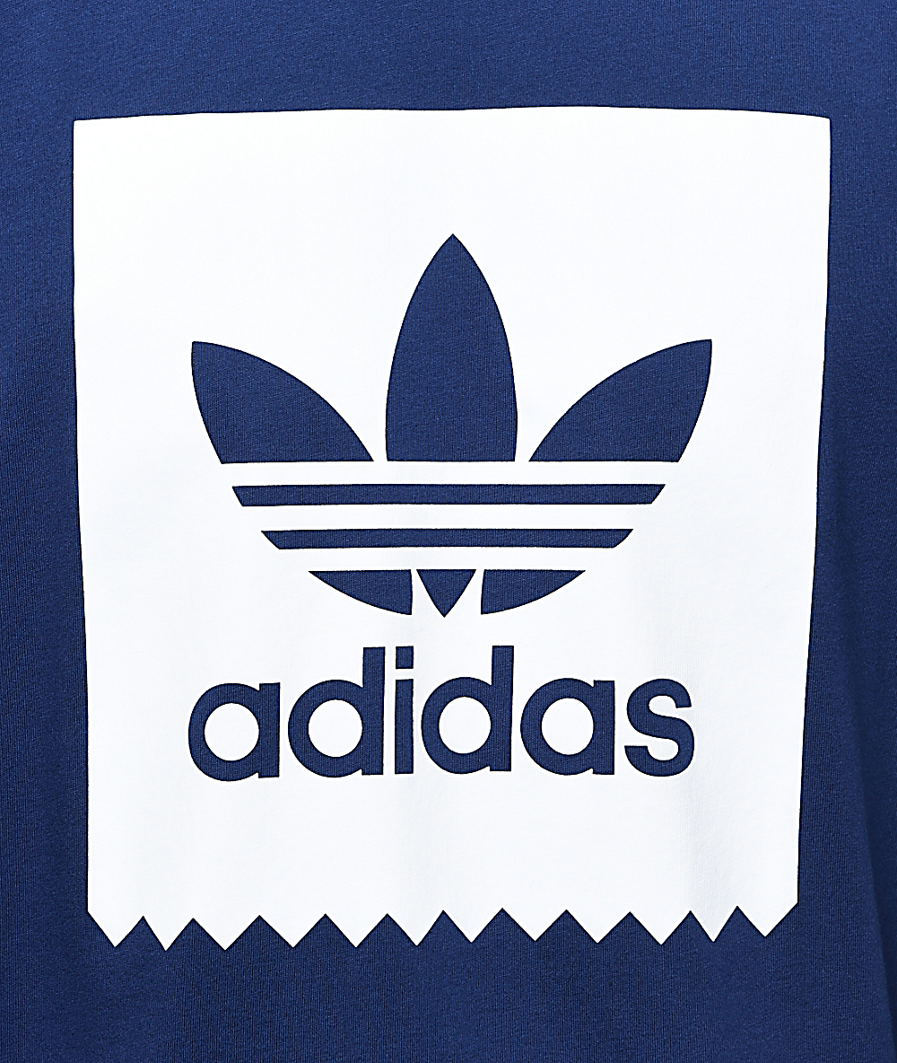 adidas Blackbird Logo Fill Navy T Shirt
