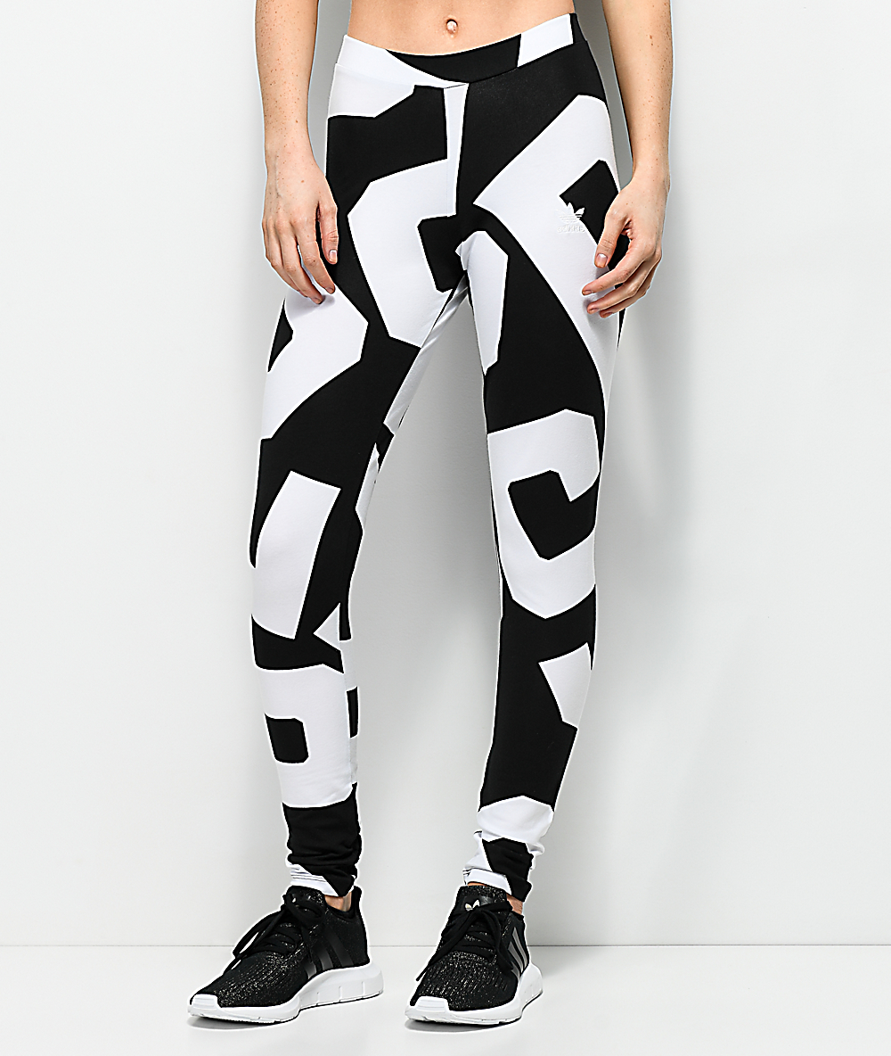adidas Bold Age Black & White Leggings