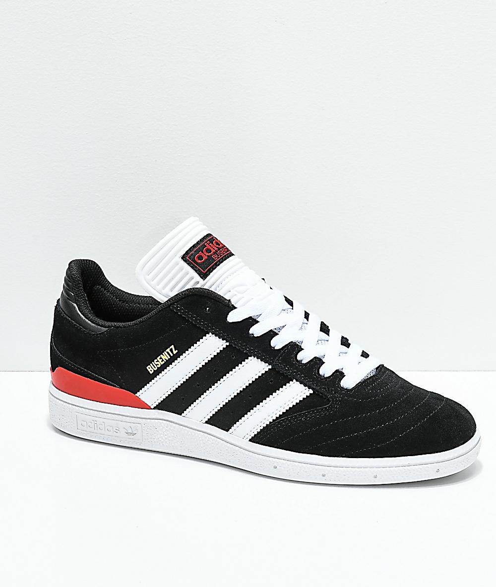 Adidas Busenitz adidas Busenitz Black, White & Red Shoes | Zumiez