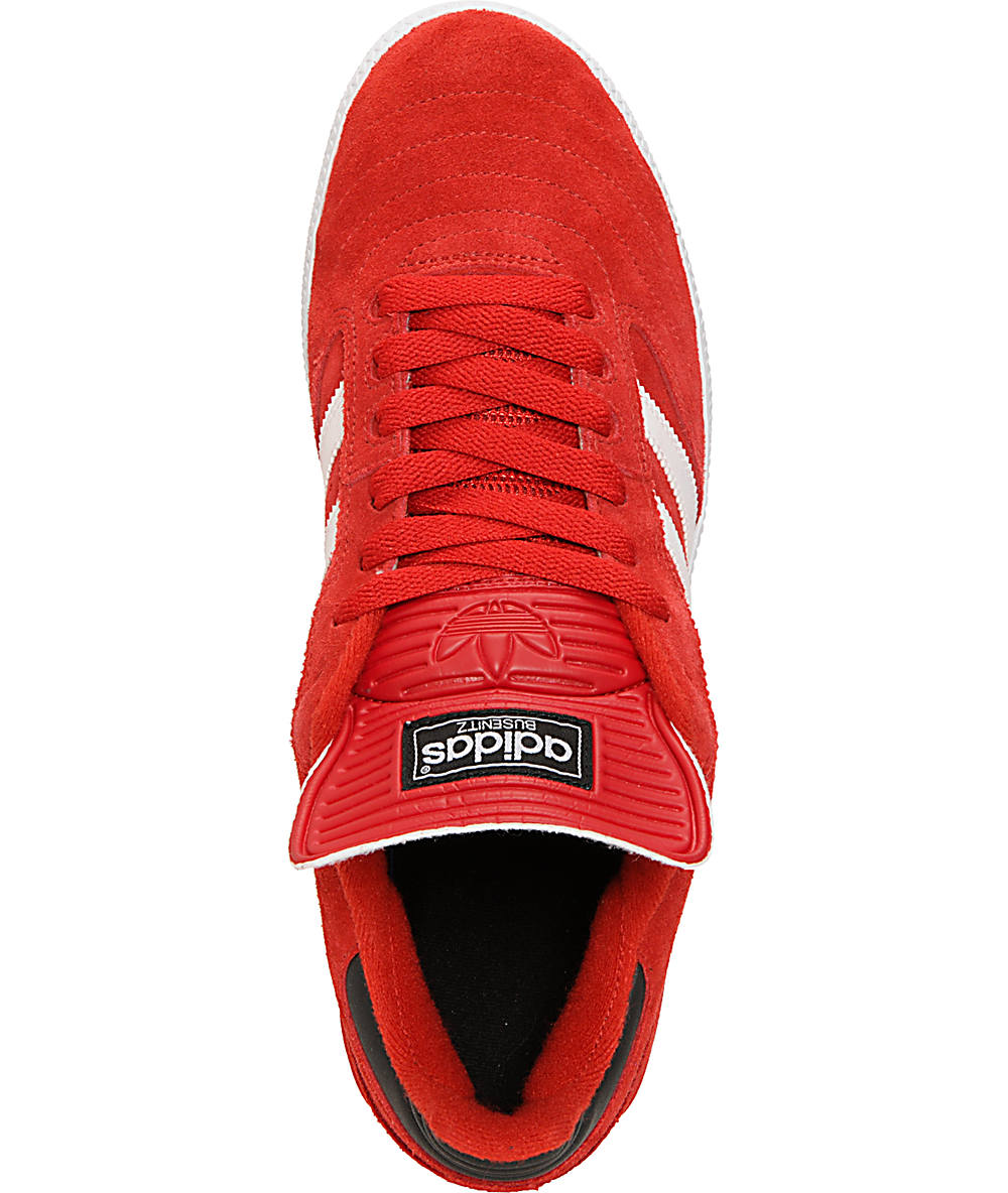 big sale 6ec6b dc6bb adidas Busenitz Pro University Red   White Shoes   Zumiez
