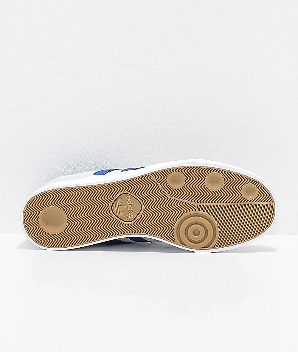 Correspondencia Logro Peticionario  adidas Busenitz Vulc zapatos de ante en gris y azul oscuro | Zumiez