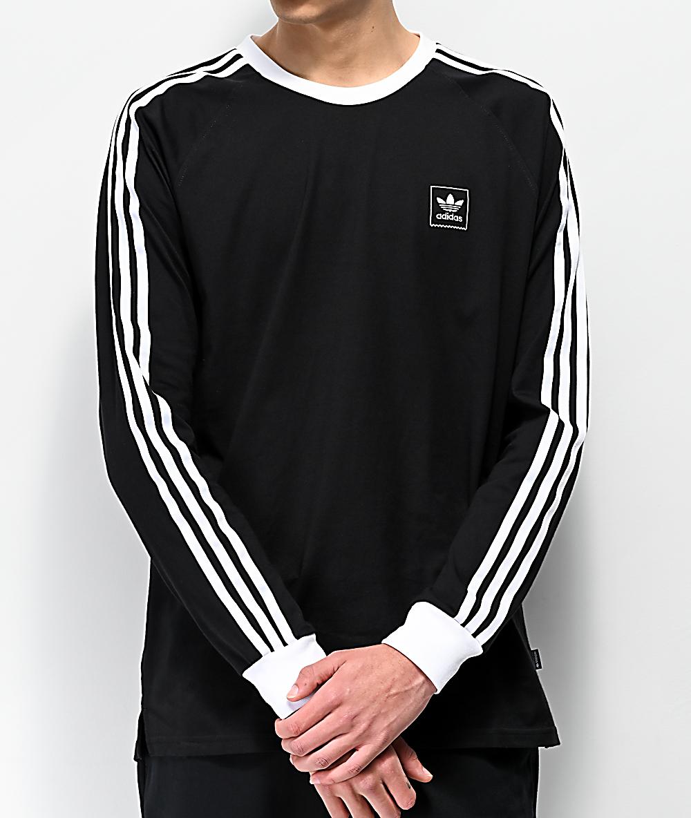 adidas Cali Blackbird camiseta de manga larga negra y blanca