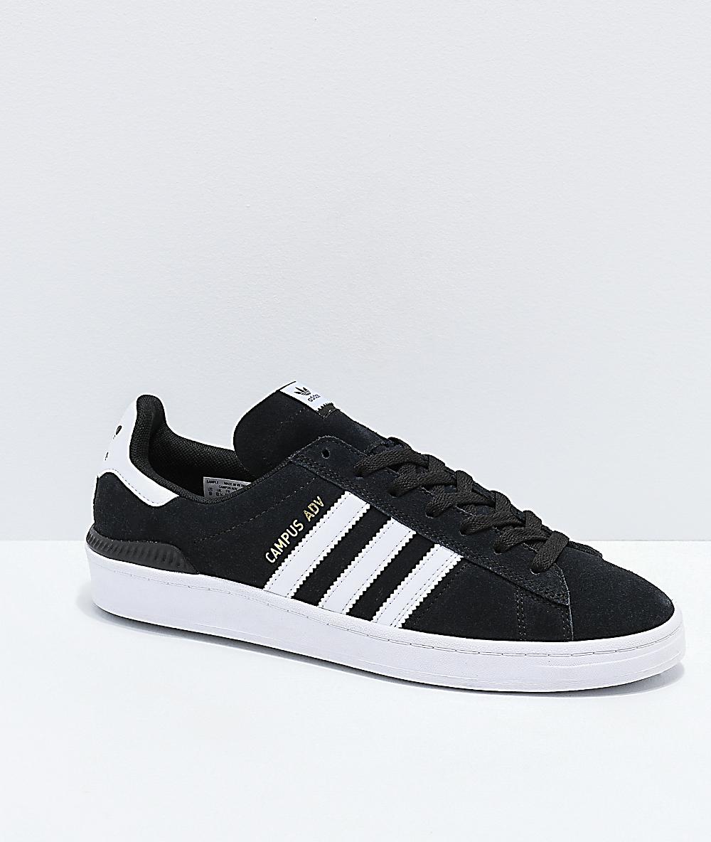 adidas Campus ADV zapatos negros y blancos