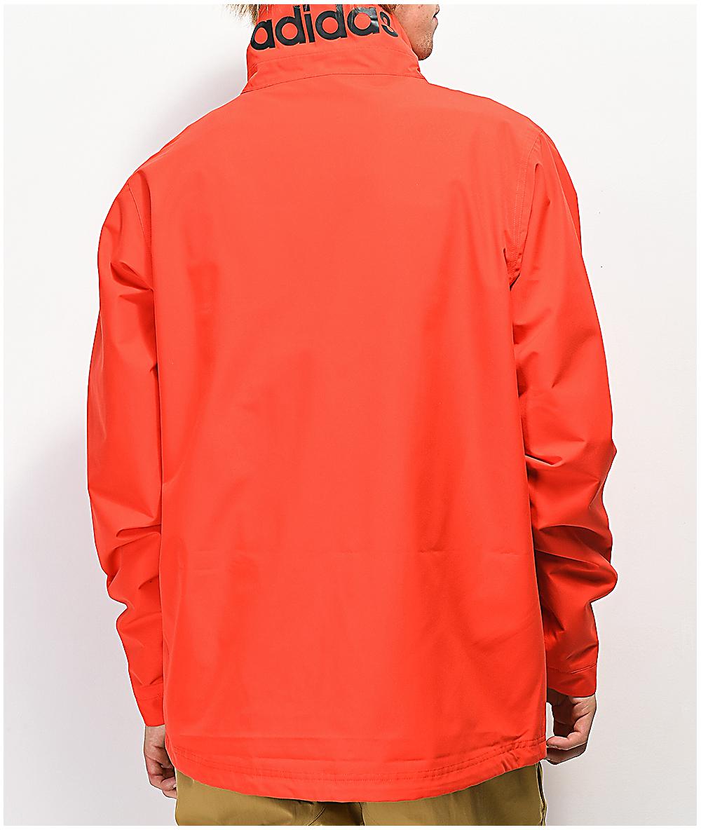 chaqueta negra logo adidas roja
