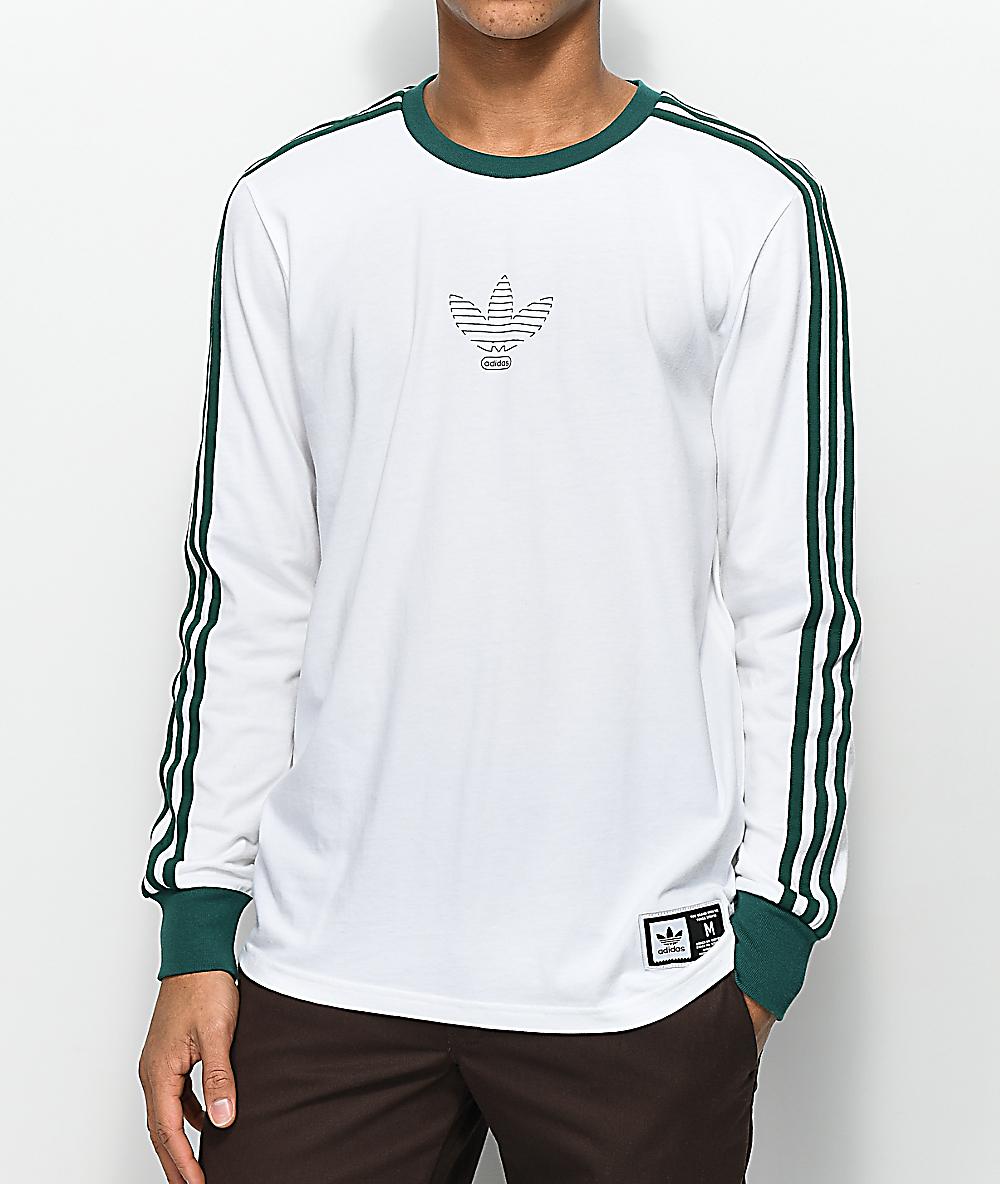 ec6b8749f1 adidas Club White Long Sleeve T-Shirt