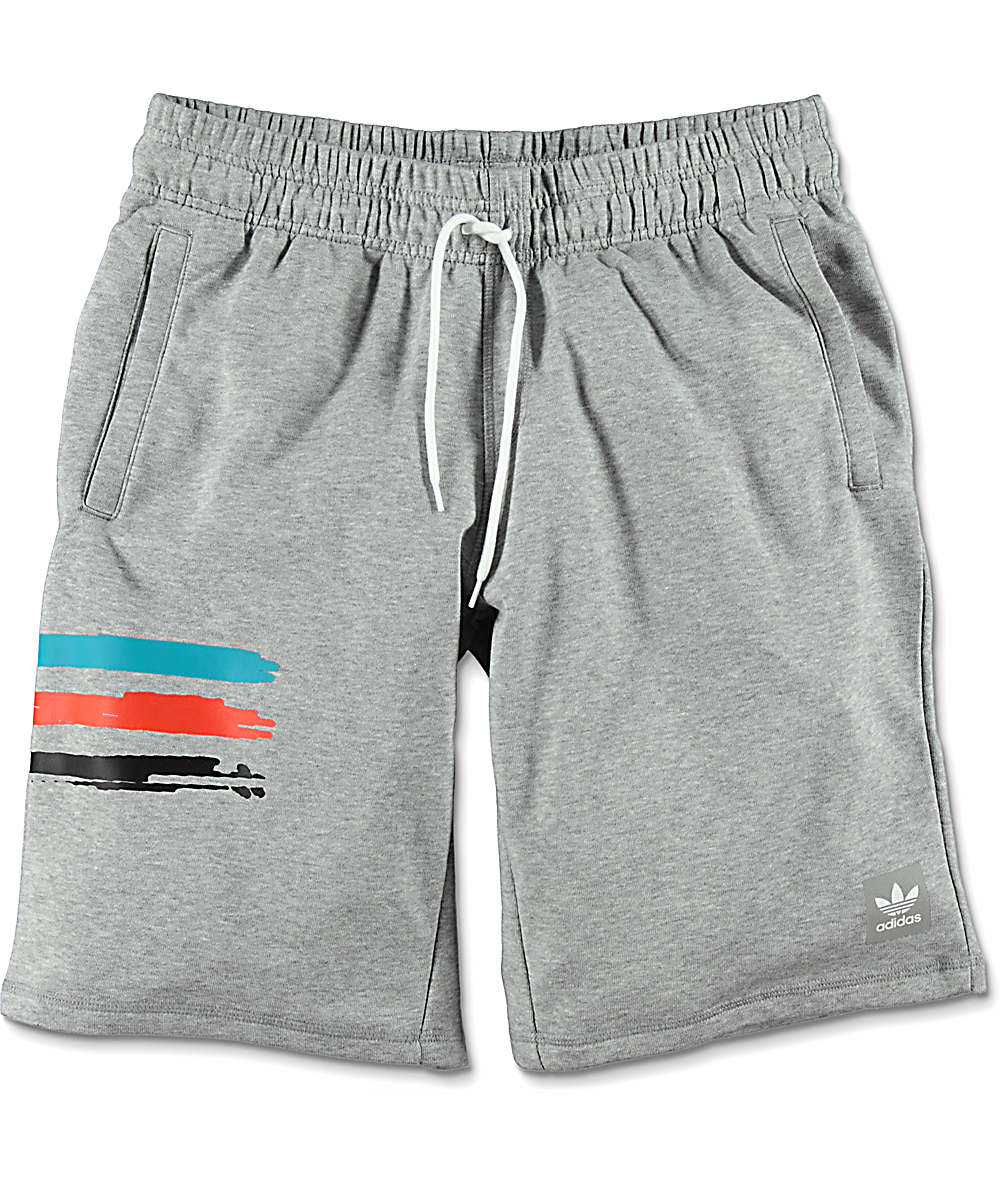 Adidas Grey Sweat Courtside Clima Shorts oxreWdCB