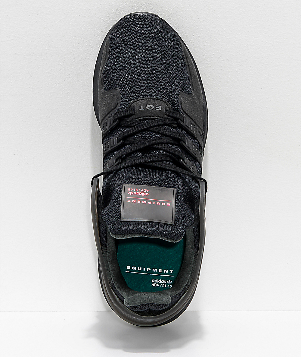 reputable site 3cc13 6ae88 adidas EQT Support ADV All Black Shoes